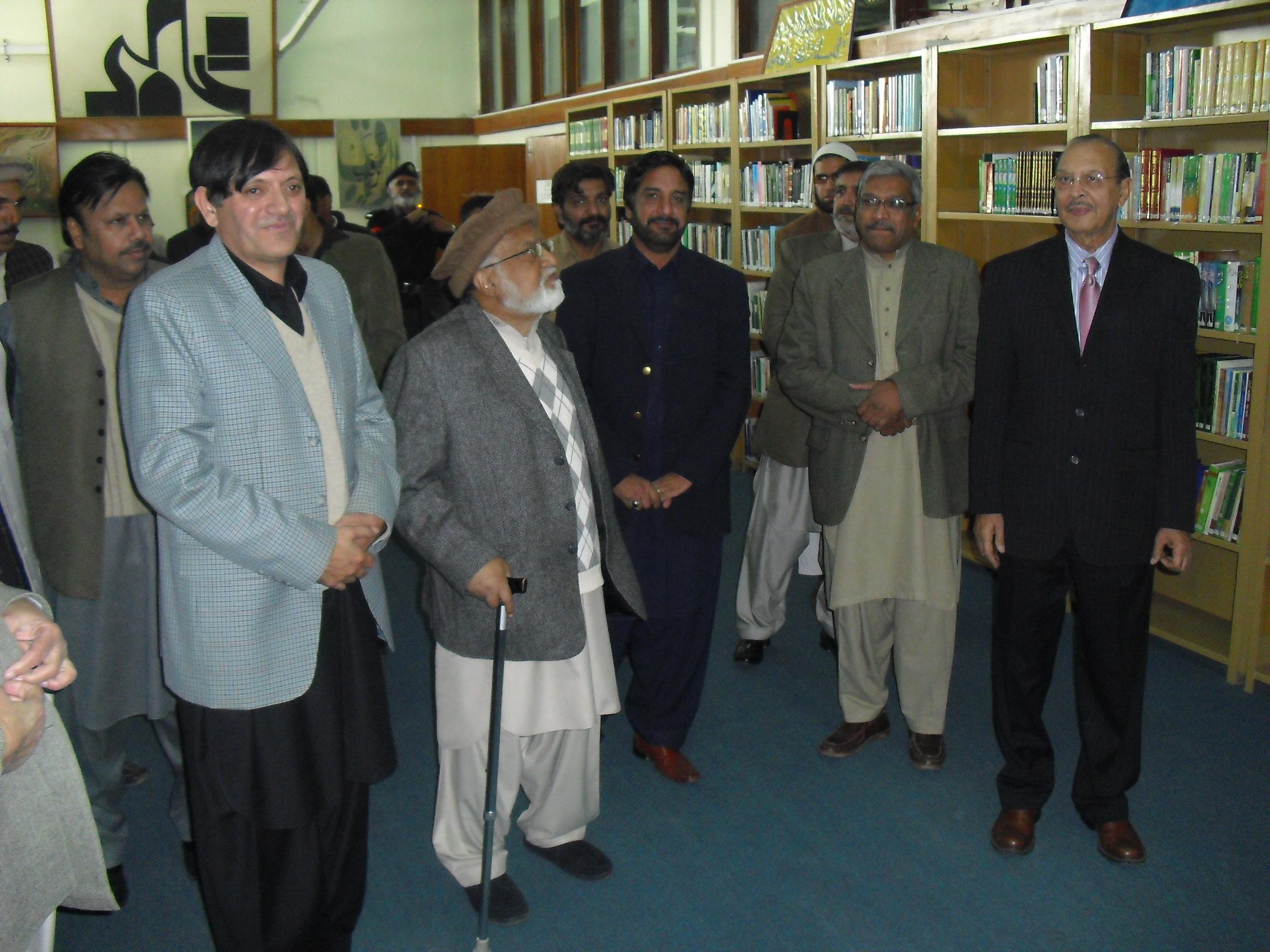 Dr. Zafar Ishaq Ansari and Dr. Mumtaz Ahmed visit