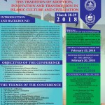 Call for Papers: Two-Day International Conference on The Tradition of Adoption, Innovation and Transmission in Islamic Culture and Civilization